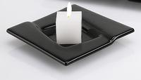 Bougeoir Illusion 1 bougie noir